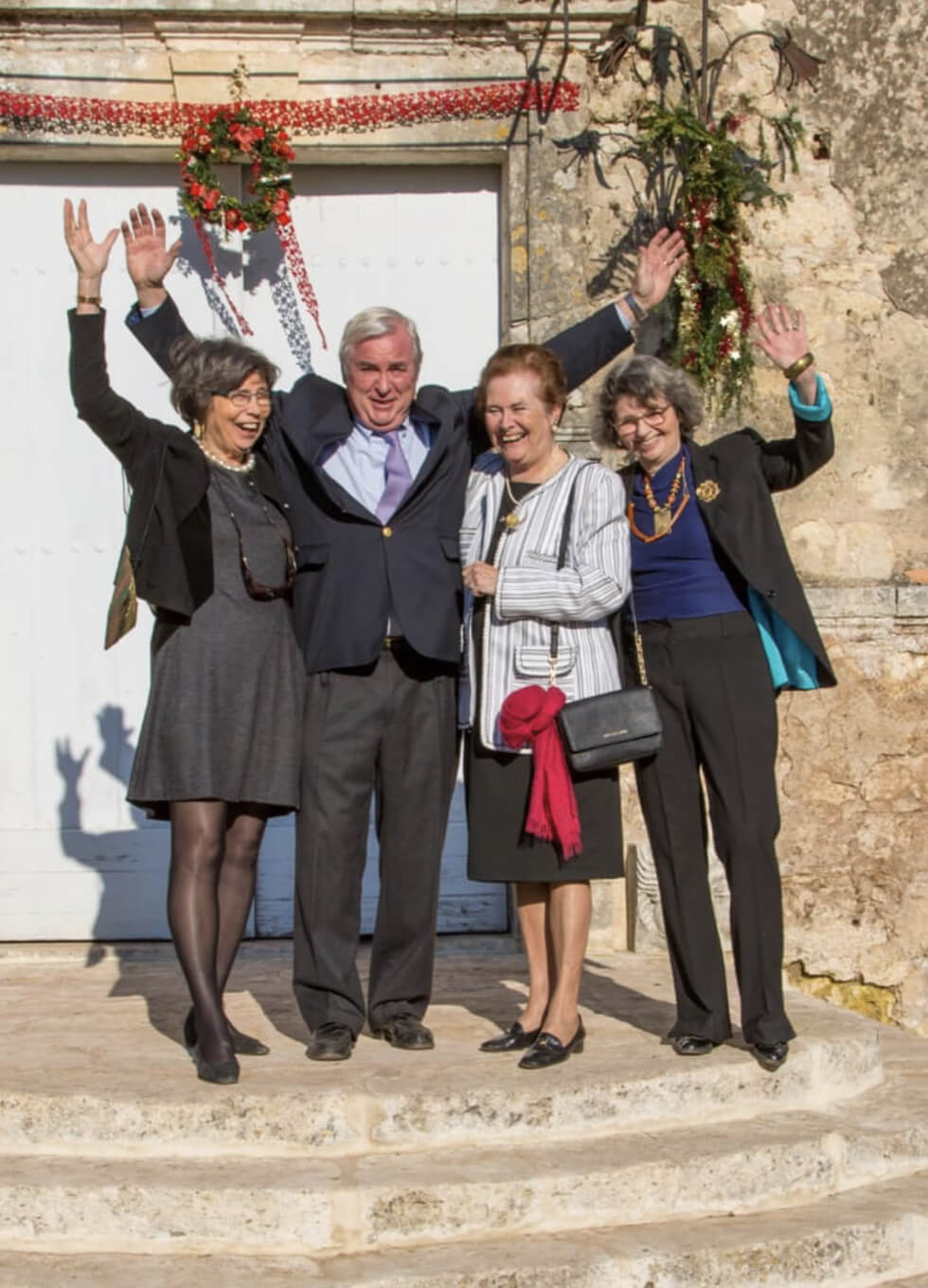 Bruno de Lambert and his sisters Anne, Gabrielle and Françoise (from left to right)